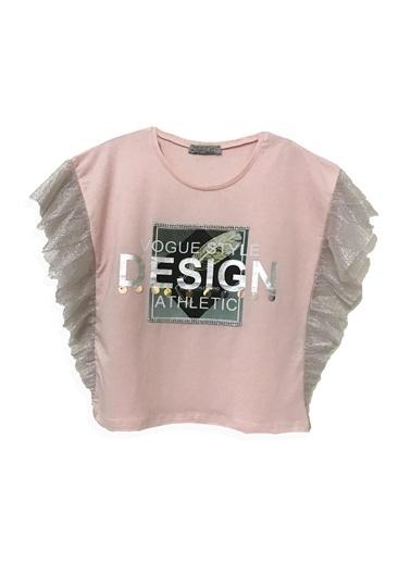 Little Star Little Star Kız Çocuk Design T-Shirt Pudra